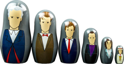NEW* Dr Doctor Who 7th - 12th Doctors Nesting Doll Set - Babushka Dolls 6 pc set