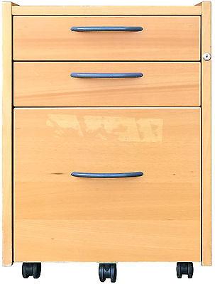 IKEA Effektiv Rollcontainer 3x Schubladen in Buche dunkel 000.438.96