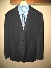 Mens Hugo Boss Black Striped Sport Coat Blazer Pasolini Move 44 Reg EUC