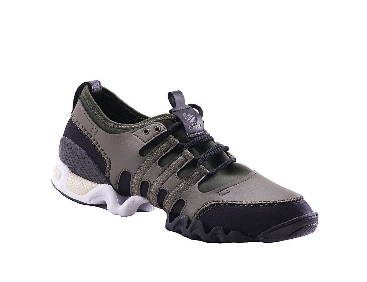 Adidas SLVR SML Q35338 Herren Khaki Textil Sneaker Dehnbar alle Größen Freizeit