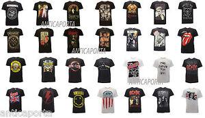 T-Shirt-Originali-Rock-Gruppi-Maglie-Nirvana-AC-DC-Pink-Floyd-Sex-Pistols