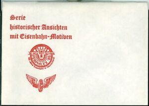 Postcard set Serie historischer ansichten mit eisenbahn-motiven (red) original