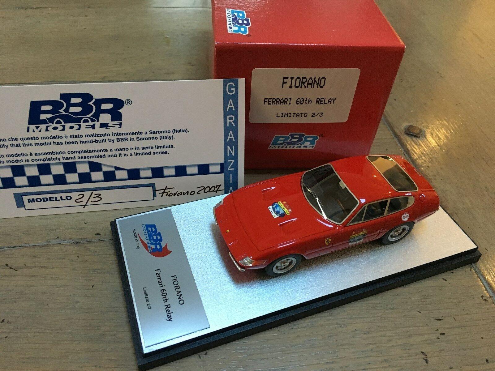 stile classico BBR  02 03 FERRARI 365 365 365 GTB4 Daytona rosso 1971 60th Anniversary Relay RARE 1 43  sconti e altro