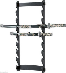 8-Tier-Sword-Wall-Display-Stand-Rack-only
