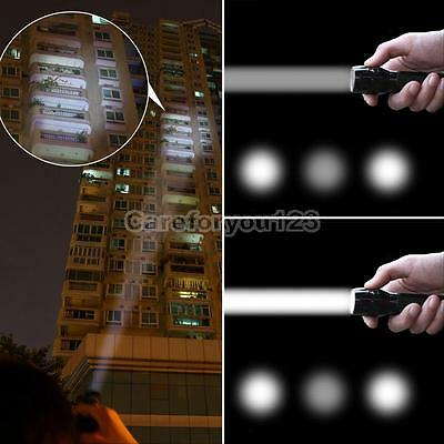 3W 3-Mode 2000 Lumen Zoomable LED Flashlight Focus Torch Lamp Light Adjustable