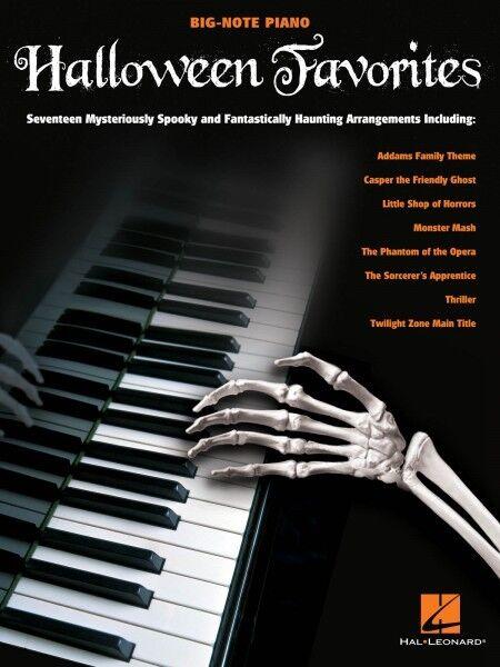 Halloween Favorites Big-note Piano Easy Sheet Music Movie TV 17 Songs Book