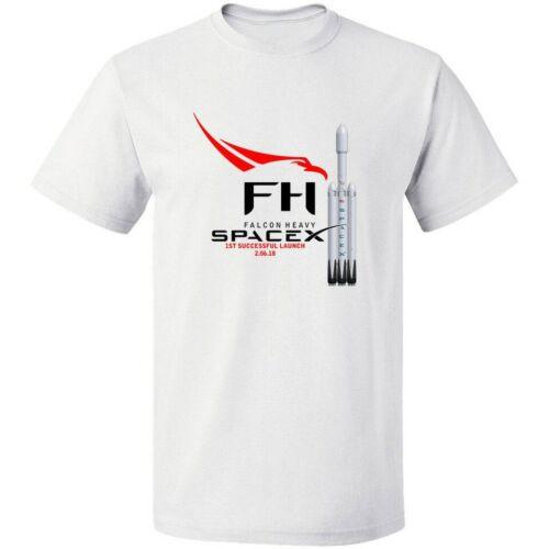 Falcon Heavy Rocket Launch Spacex Elon Musk 2018 T Shirt Vintage Men Gift Tee