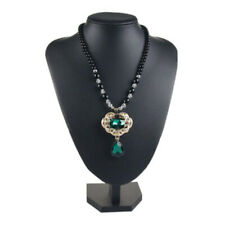 Women Grils Black Necklace Display Stand Jewelry Display Bust Model 21x16cm