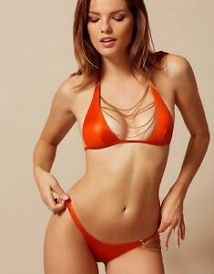 Image is loading Agent-Provocateur-TONYA-Orange-Bikini-Brief-Rose-Gold- 92e863a94