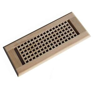 Self Rimming Vent Egg Crate Drop In Red Oak Wood Floor