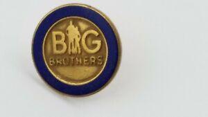 Vintage BIG BROTHERS Lapel Hat Pin Tie Tac G1