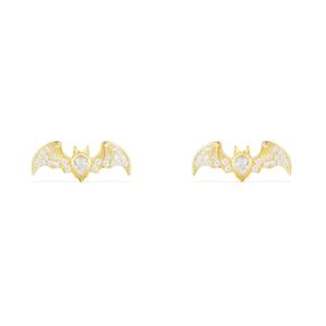 Image Is Loading 2ct Pear Cut Diamond Bat Design Stud Earrings