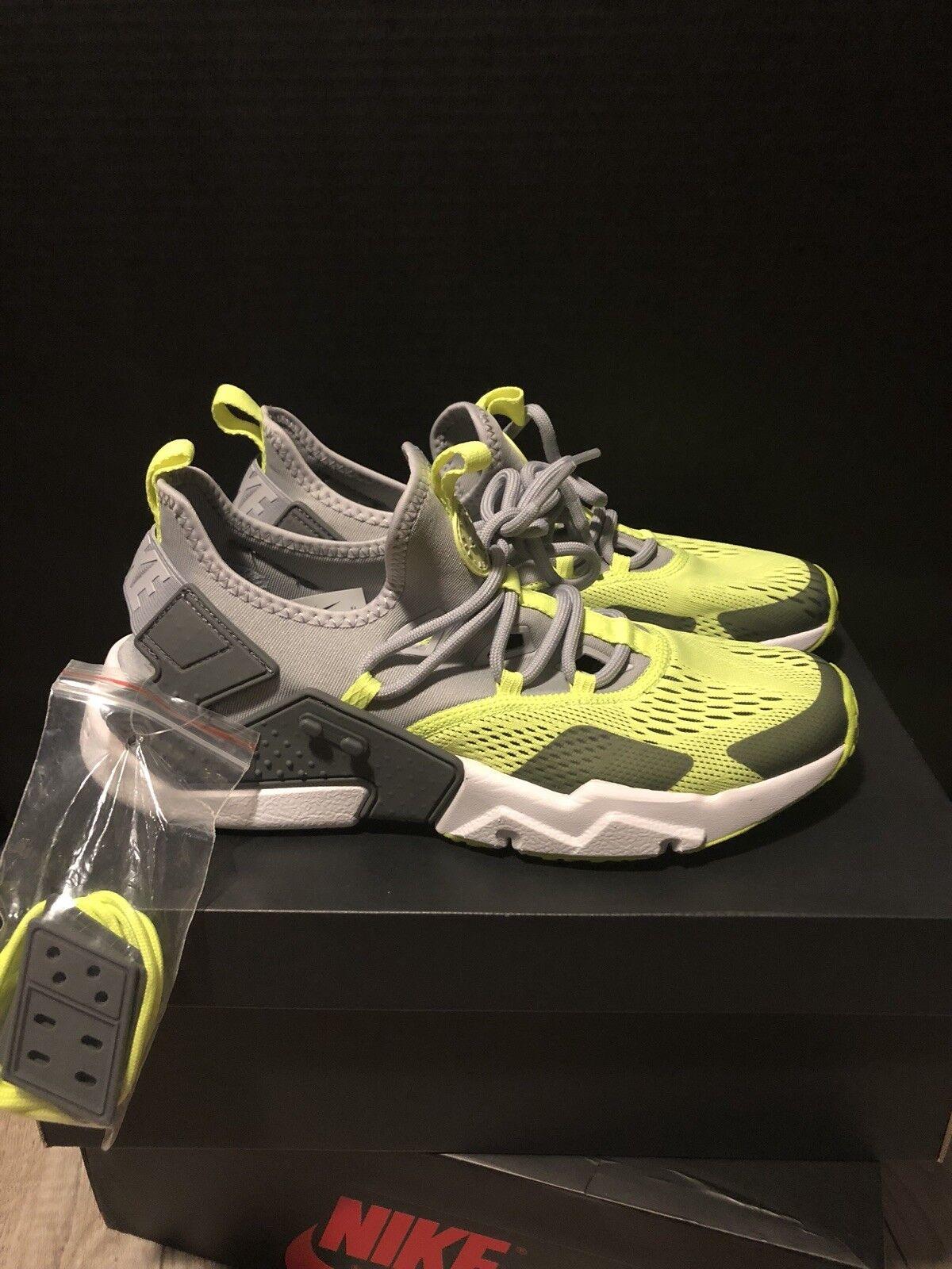 Nike Air Huarache Drift BR Men Wolf Grey Volt White New shoes AO1133-001 SIZE 9