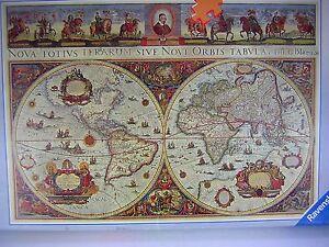 Ravensburger jigsaw puzzle old world map ancient earth globe 3000 ravensburger jigsaw puzzle old world map ancient earth gumiabroncs Choice Image