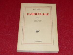 ELSA-TRIOLET-CAMOUFLAGE-Nrf-Gallimard-Coll-Blanche-EO-Fr-SP-1976