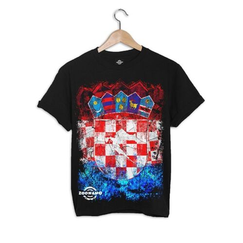 ZOONAMO T-Shirt Kroatien Classic neu 100/% cotton Hrvatska Croatia Zagreb Split