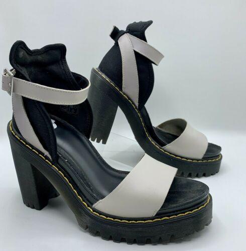 DR MARTENS High Heel Strappy Leather Medea SANDALS