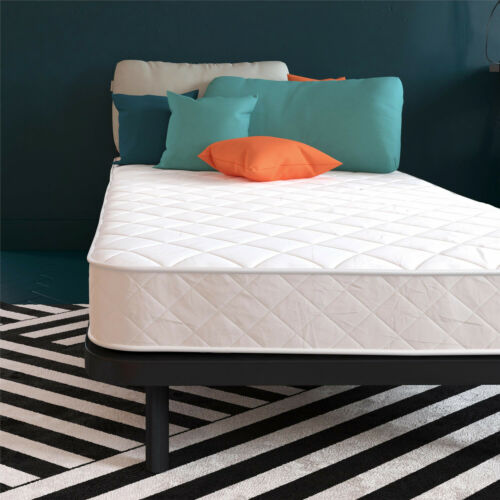 """Mattress In A Box Twin Size Soft Cover 6/"""" Bonnell Coil Quilted Pattern Bunk Bed"""