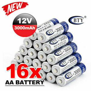 16-BTY-AA-Rechargeable-Batteries-1-2V-3000mAh-Ni-MH-For-Toys-MP3