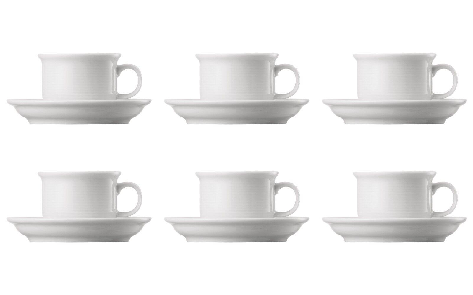 6 x Espresso-Obertasse 0,10 l + Untertasse 11,5 cm - Thomas Trend white - 14715
