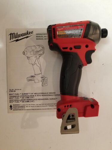 "MILWAUKEE 2760-20 M18 18V 18 Volt Fuel SURGE 1//4/"" Hex Hydraulic Impact Driver"