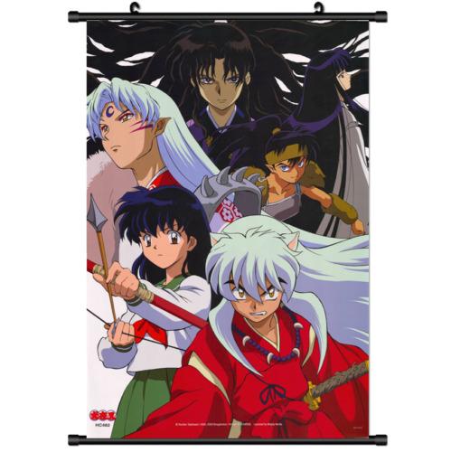 Japan Anime InuYasha Inu Yasha Wall Poster Scroll Home Decor cosplay 2612