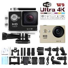 """2.0"""" W9 WiFi Ultra HD Car Bike Helmet Sports DV Action Waterproof Camera NE"""