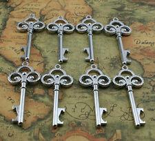 100x Silver Vintage Style Antique Key Charm Wedding Favor Steampunk DIY Confetti