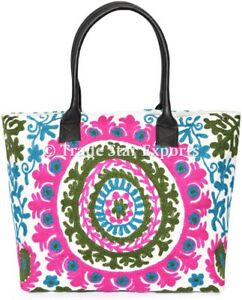 Indian-Suzani-Handbags-Boho-Embroidered-Women-Bag-Large-Cotton-Shoulder-Bag-Art