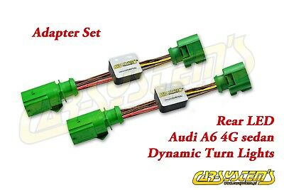 Audi A6 4g Sedan Limo Dynamischer Led Blinker Plug & Play Dynamic Led Plug&play Jade Weiß