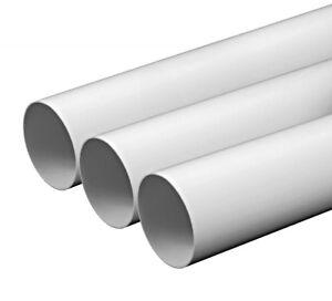 Rund-Kanal-Starr-Rohr-Saugluefter-Belueftung-Solid-Rohr-Plastik-Verbindungsstueck