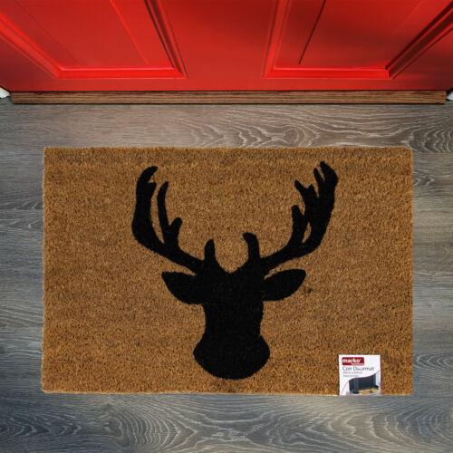 Door Mat Doormat Non Slip Natural Coir PVC Backed Indoor Outdoor Home /& Garden