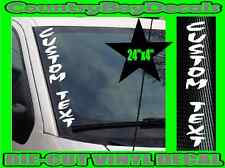 CUSTOM TEXT Vertical STACKED Windshield Vinyl Side Decal Sticker Truck Car Turbo