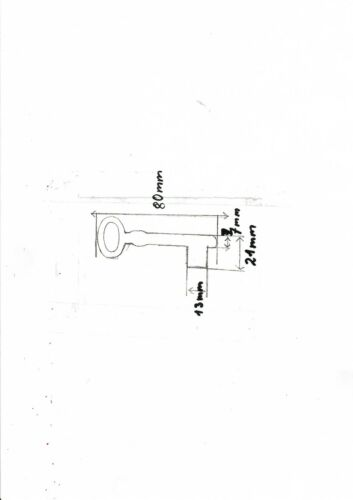 Schlüßel,Schlüssel Rohling männchen 80 mm mit Stift Eisen,Kastenschloss,top!
