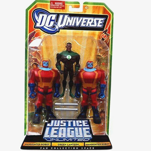 DC Universe_Justice League Unlimited_GREEN LANTERN_MANHUNTER ROBOT 3.75  figures