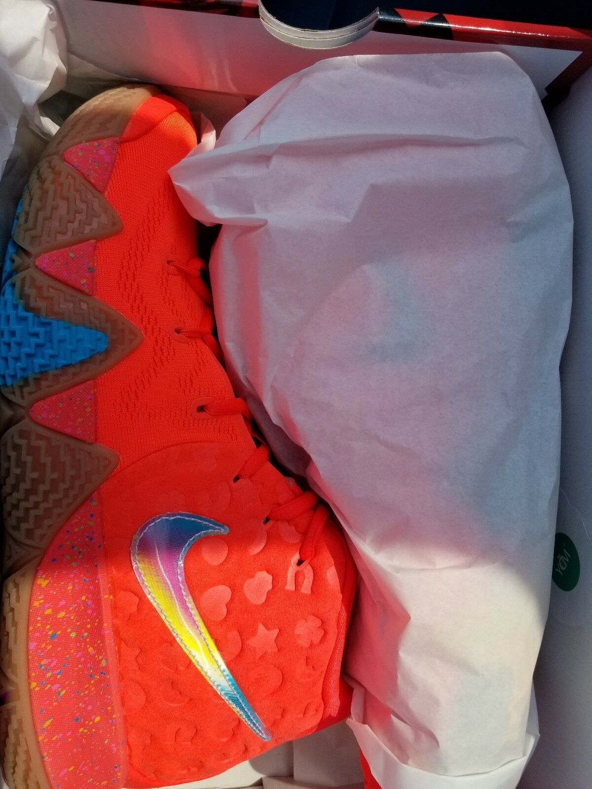 Nike Kyrie 4 Lucky Charms Comfortable Comfortable and good-looking