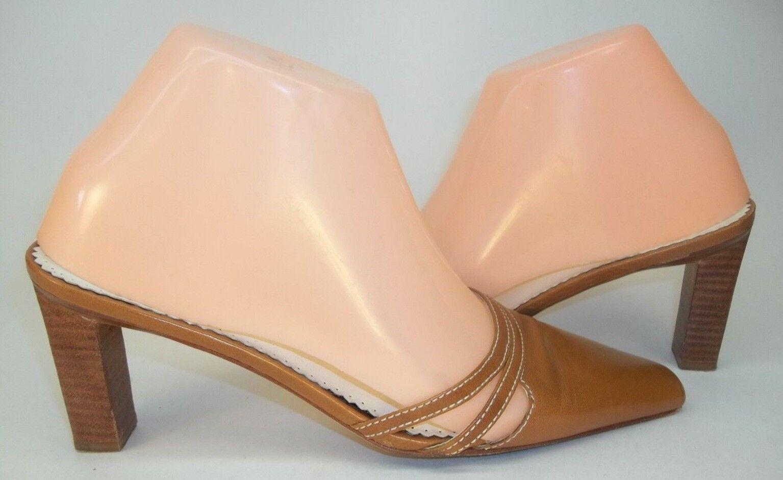 Ralph Lauren Donna Heels Shoes Heels Donna Mules   6 B Brown Pelle Slip-On stitching 869a2e