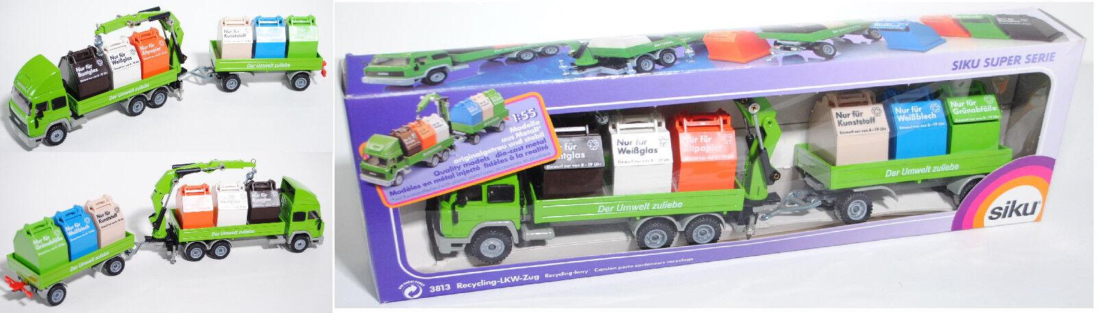 Siku Super 3813 Iveco Turbo Star reciclado-tren, el medio ambiente por el bien, aprox. 1 55
