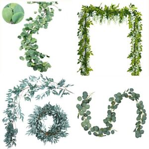 Artificial-Greenery-Eucalyptus-Leaf-Gray-Willow-Leaves-Wisteria-Hanging-Rattans