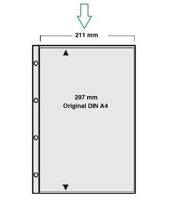 50 x Sammelhüllen Prospekthüllen A4 mit 4 Taschen DINA6 10x15 cm 120my GLASKLAR
