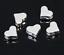 50 Stück Metallperle 7x6mm Herz versilbert Zwischenperlen Spacer Beads
