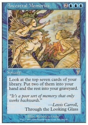 7th Edition *Rare Draw* MTG 4x ANCESTRAL MEMORIES