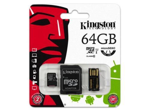64 gb microsdxc tarjeta de memoria con SD-adaptador plus lector de tarjetas Kingston clase 10