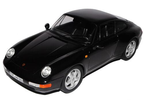 Porsche 911 993 Carrera Coupe Schwarz 1993-1998 1//18 Norev Modell Auto mit oder