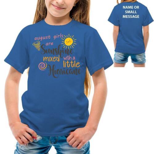 August Ragazze sono Sunshine Girl T-shirt di compleanno 2 3 4 5 6 7 8 9 10 11 12 13