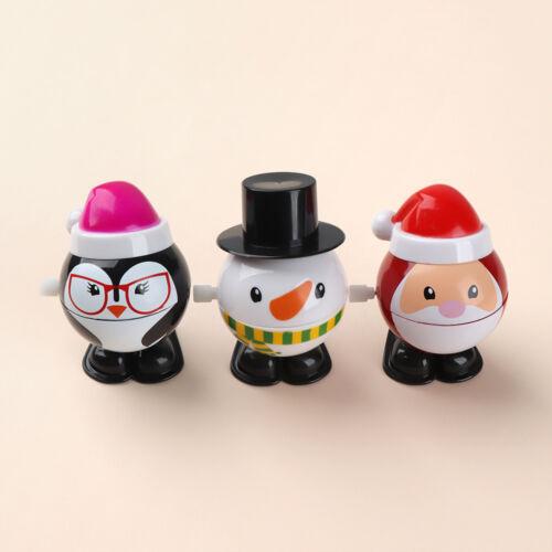 Creative Mini Christmas Santa Claus Wind Up Toys Snowman Penguin Clockwork Toy