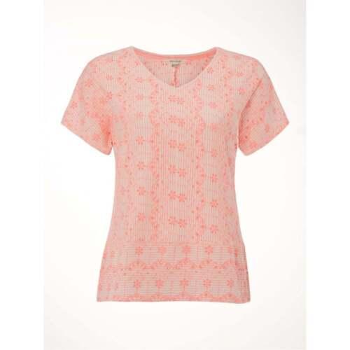 White Stuff Femme Nolon Jersey tee shirt en Carnation Rose-Tailles 8 /& 10