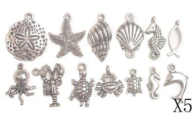 25pcs Antiqued silver elephant charms FC9422