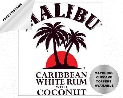 Malibu Label cake topper decoration