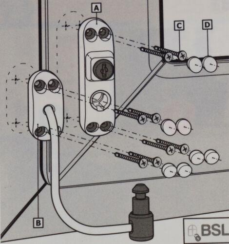 Fenêtre de sauvegarde türsicherung BSL Cable Prime marron